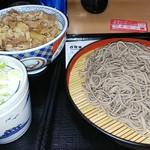 そば処 吉野家 - 牛丼そばセット(もり)