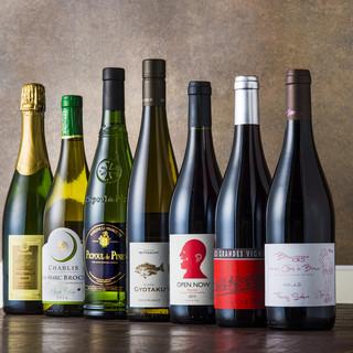 ワインと日本酒が豊富です!!