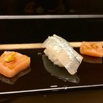 弁慶 - 扇 14,000円コース:カジキマグロ、さより