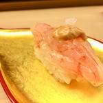 弁慶 - 扇 14,000円コース:握り甘エビ、このわた(なまこ)