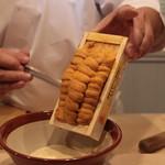 味あら井 - 雲丹エシャロットソース