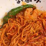 80875915 - 担担麺ハーフ(\350)濃厚胡麻・DEATH セロリ(\100)