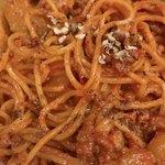 80875921 - 担担麺ハーフ(\350)濃厚胡麻・DEATH セロリ(\100) 4種の山椒