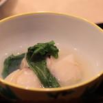 味あら井 - 蛤と牡蠣の塩醤油スープ
