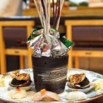 弘寿司 - 虎河豚、アイナメ、煮蛤、槍烏賊
