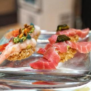 弘寿司 - 料理写真:大トロ、甘海老