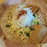 麺屋 極鶏 - 極鶏 魚だく チャシュ増味タマ+♪