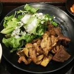 黒毛和牛食べ放題 みやもと牧場 - おまかせまかない定食(780円)
