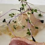 リストランテ ウミリア - 前菜の真鯛のカルパッチョ