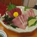 鮨 和食 ひとしずく - お刺身三点盛り