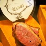 肉びすとろ グルマン 三年坂 - 名物料理お肉のかいだん(鴨のロースト)