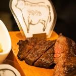 肉びすとろ グルマン 三年坂 - 名物料理お肉のかいだん(あか牛)
