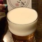 酒房 うさぎ - クリーミーな生ビール。プレモル