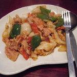 809572 - 豚肉とイカのピリ辛炒め