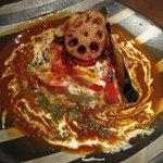 ビストロらんちょす - 茄子とトマトのチーズドリア風カレー