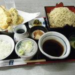 並木増田屋 - 料理写真:ミニ天定もりそばセット