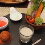グリーチネ - 前菜、菊芋のムース