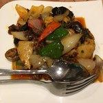 上海料理 蓮 - 貝柱と牛肉のXO醬炒め