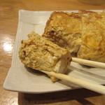 三里 - いかにも「蕎麦屋の玉子焼き」