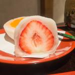菓舗 カズナカシマ - あまおうイチゴ大福