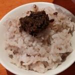 80909323 - 二十穀米ご飯・ふきのとう味噌添え(限定チャコ飯)