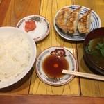 """寅""""むすこ食堂 - 麻婆豆腐定食+餃子3個"""