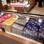 ロイズ - バレンタインおすすめ商品のディスプレイ;生チョコ系が多いですね @2018/02/10
