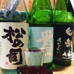 うまいもん屋 晴 - 大将自ら厳選した日本酒もあります♪
