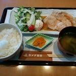 カメダ珈琲 - 料理写真:「しょうが焼き定食」