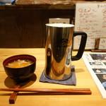 ぽろ ホームメイドキッチン - 生ビール(たしか550円)