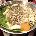 だるま - ラムしゃぶ食べ放題の野菜