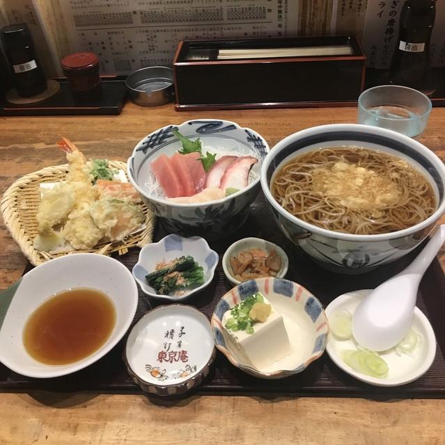 日本そば東京庵 - 東京庵定食。 税込1000円。 美味し。