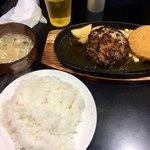 三浦のハンバーグ - ハンバーグメンチランチ700円