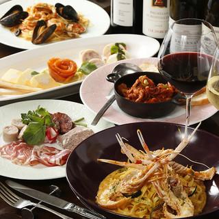 お箸で楽しむイタリア料理と厳選ワイン