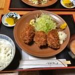 三友 - カキフライ 3個定食