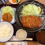 とんかつ武信 - ロースかつ膳(松 170g) 1,600円 ヒレひとくち 400円
