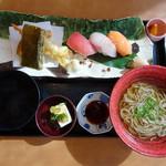 旬のご馳走ごはん 山水草木 - 寿司、天ぷら、そばのセット