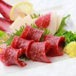 菅乃屋 - 料理写真:赤身馬刺し盛り