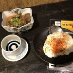 食へ集う 千す - 浅間山 350円 ポテトサラダ 80円 どて焼き 490円