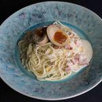 煮卵カルボナーラ