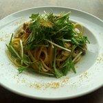 ビストロ グリル トドス - あさりと水菜のペペロンチーノ