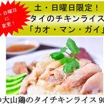 タイ国料理 チャイタレー - 料理写真:土・日曜日限定!名物メニュータイのチキンライス「カオマンガイ」
