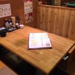 浜焼太郎 - ボックス席は全部で3卓あります。