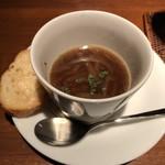洋食とBar Switch - お通し  オニオンスープ