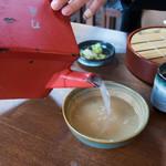 刀屋 - とろーり蕎麦湯