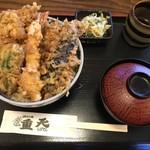 天ぷ羅 重天 - 料理写真:海老と野菜の天丼(850円)