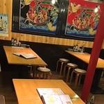 浜焼太郎 - 前の席は全部で3卓あります。