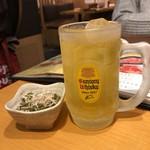 80956495 - 緑茶ハイ。グラスがキンキン♫♫♫