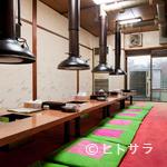 文田商店 - 2階の個室は強力な換気システムで煙りを排出