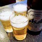 手打ちうどん 鶴丸 - 瓶ビール